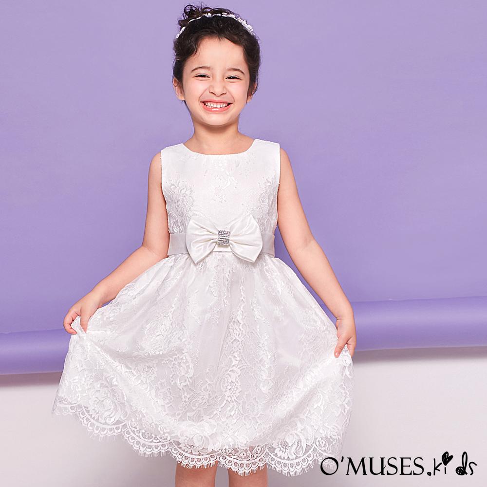法式蕾絲花童禮服-OMUSES