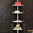 IKLOO宜酷屋 頂天立地角落多功能伸縮四層置物架-組