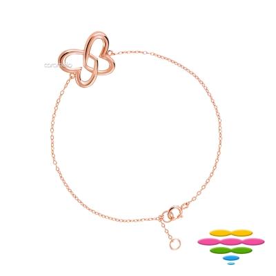 彩糖鑽工坊 桃樂絲 Doris系列 銀鍍玫瑰金手鍊
