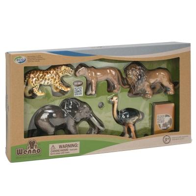 Wenno動物模型 動物系列 非洲野生動物5入 WAF06001(3Y+)