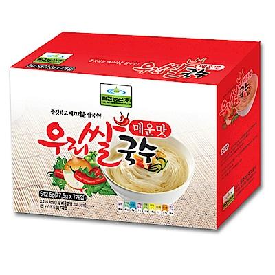 韓味不二 七甲米麵線禮盒-辣味(82.5gx7入)
