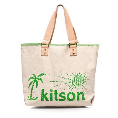 kitson  夏威夷風真皮背帶托特包(L) GREEN