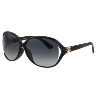 GUCCI-閃耀鑽石系列 太陽眼鏡(黑色)