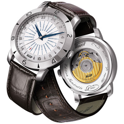 TISSOT Heritage Navigator領航者160週年紀念機械腕錶-43mm