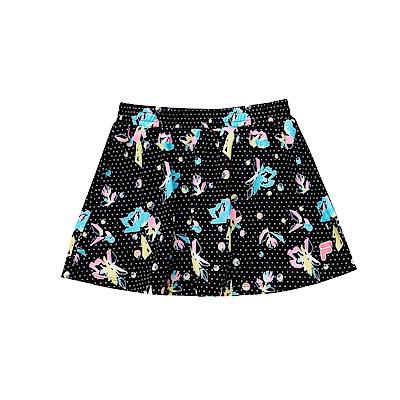 FILA KIDS 女童吸濕排汗短裙-黑 5SKS-4446-BK
