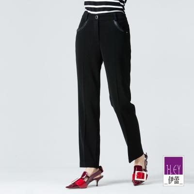 ILEY伊蕾 日本進口素材窄管西裝褲體驗價商品(黑)