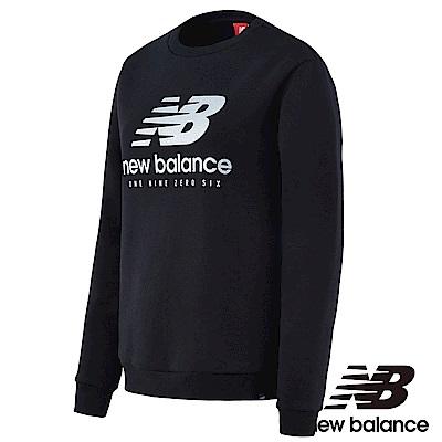 New Balance 刷毛圓領長袖T恤 AWT73570BK 女性黑色