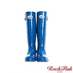ROCKFISH 時尚百搭顯瘦長筒雨靴 繽粉系列 天空藍