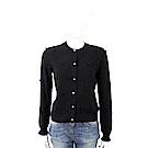 BLUGIRL-FOLIES 毛球細節黑色美麗諾羊毛針織外套