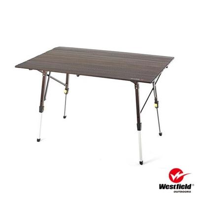【WEST FIELD】超輕航空鋁合金折疊鋁捲桌(高度無段可調.5.8kg)_棕