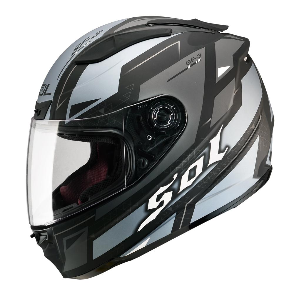 SOL SF-3 遊騎兵Rangers 全罩式安全帽(消光黑灰藍銀)