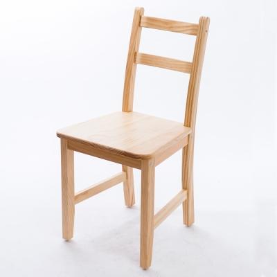 CiS自然行實木家具-北歐實木餐椅扁柏自然色原木椅墊