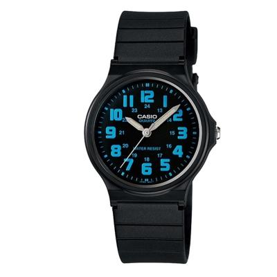 CASIO輕巧實用數字時刻經典指針錶(MQ-71-2B)-黑X藍時刻/34.9mm