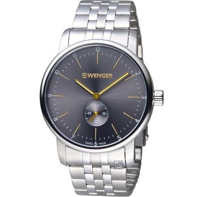 WENGER Urban系列小秒針紳士腕錶(01.1741.106)灰/42mm
