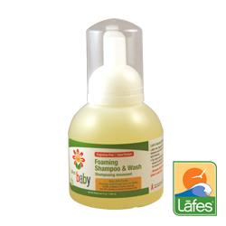 Lafe's organic純自然嬰兒洗髮沐浴露慕斯泡泡354ml