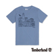 Timberland 男款藍灰色燈塔圖形印花