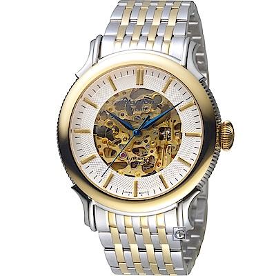 日本麗聲錶RHYTHM多層次鏤空機械錶(A1510S02)-44mm