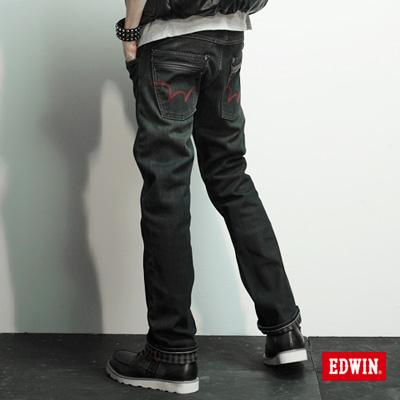 【EDWIN】大尺碼 EDGE W-F中直筒保溫褲-男款(黑色)