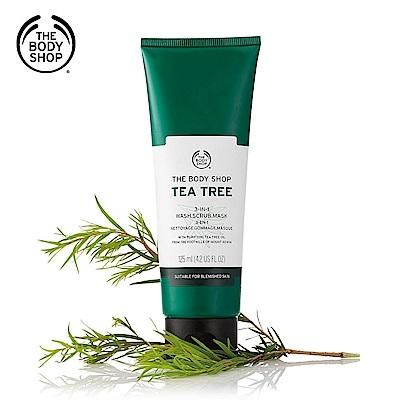 The Body Shop 茶樹3效淨膚-磨砂-面膜-125ML