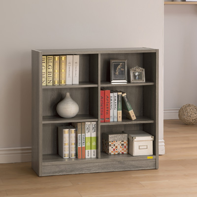 COMDESK六段厚板寬書櫃-90x29.5x90.5cm-DIY-兩色兩選