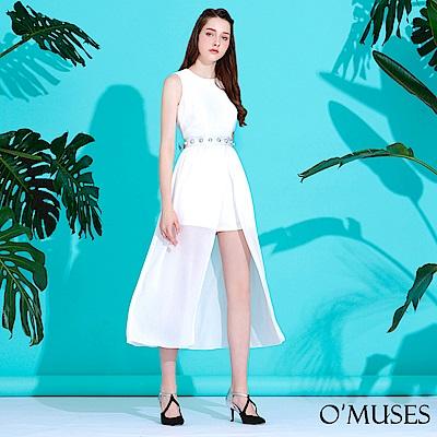 褲裙式雪紡長禮服-OMUSES @ Y!購物