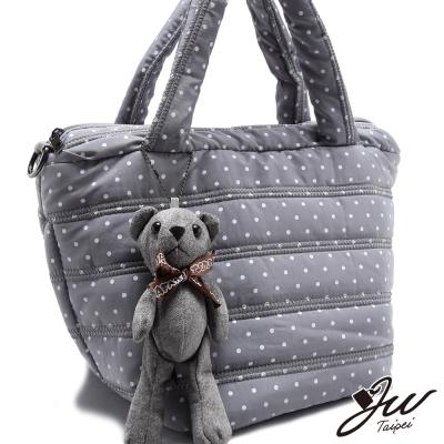 JW-肩側包-森林水玉波點小熊吊飾空氣感肩側包-共