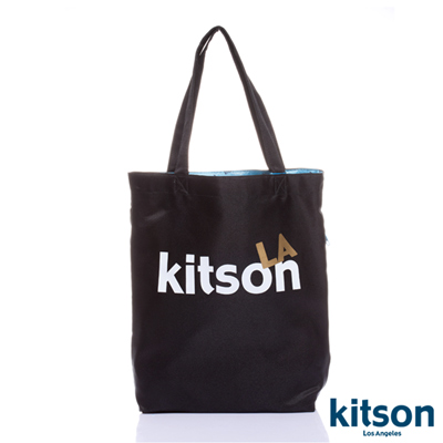 kitson L.A.-LOGO購物袋/托特包 黑
