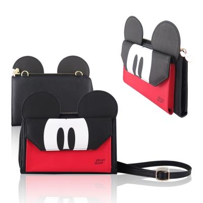 Disney迪士尼經典大耳朵造型雙層手機袋 手拿包 多卡層包 萬用包