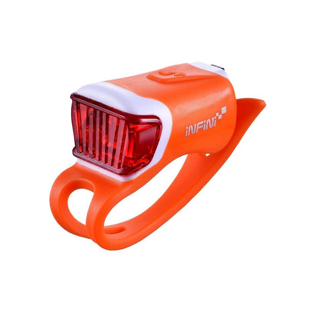 INFINI ORCA I-204R 鯨魚USB充電式紅光警示燈 橘
