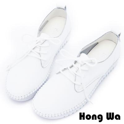 Hong Wa - 運動休閒風格綁帶舒適便鞋 - 白
