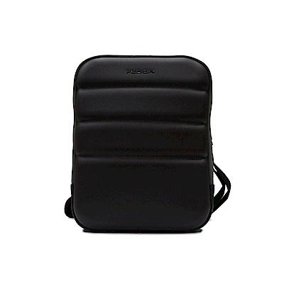 FEDON 1919 Ninja 雙色半硬殼肩背電腦包-黑灰