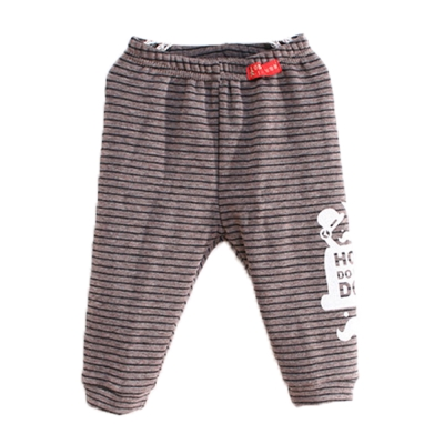 條紋厚刷毛保暖長褲 k60027