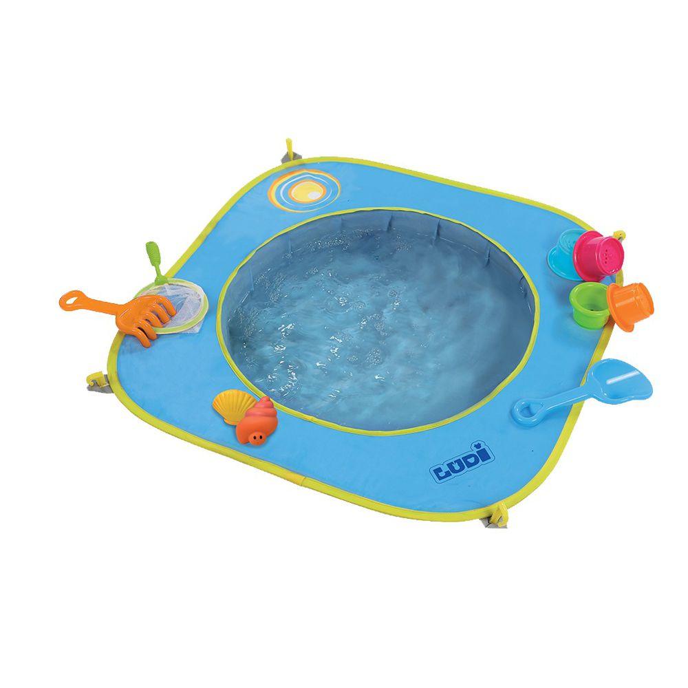 JAKO-O 德國野酷 沙坑泳池-含13件玩具組(沙灘戲水/小泳池)