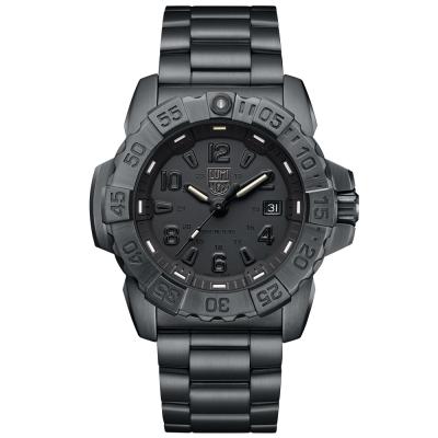LUMINOX 雷明時NAVY SEAL STEEL 3250全新海豹2代鋼鏈腕錶-黑武士