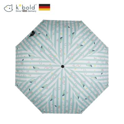 德國kobold酷波德 夢幻海洋 超輕巧抗UV防曬三折傘-藍白格調