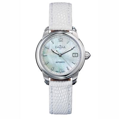DAVOSA Ladies Delight 系列 經典時尚腕錶-白x白色錶帶/34mm