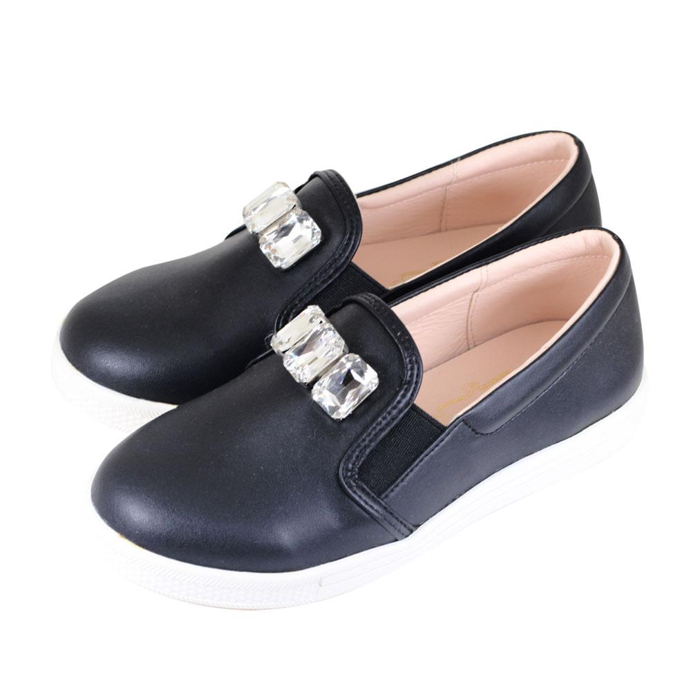 Swan天鵝童鞋-華麗寶石懶人休閒鞋 3830-黑