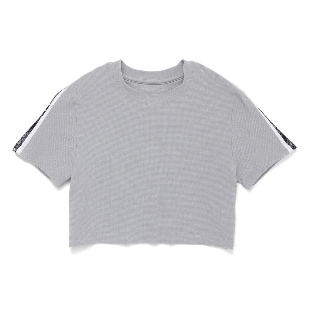 CONVERSE-女短T恤10008671-A01-銀灰