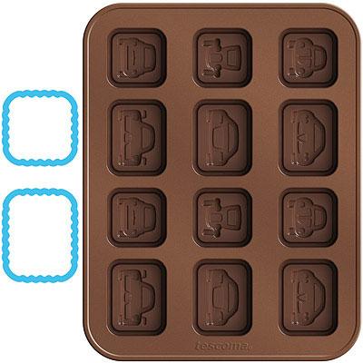 TESCOMA 巧克力模+層架切模(汽車)
