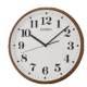 SEIKO 日本精工 數字 滑動式秒針 掛鐘 時鐘(QXA697B)-白-咖啡框35cm product thumbnail 1