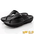 GP時尚涼拖-簡約休閒夾腳款-EI518W-10黑(女段)