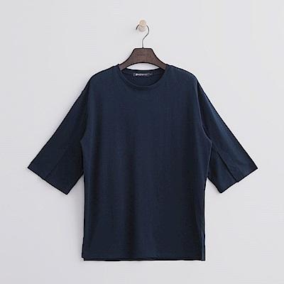 Hang Ten - 女裝 - 袖開衩寬鬆T恤-深藍色