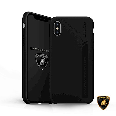 iPhone X 藍寶堅尼Aventador原廠矽膠保護套 - 黑