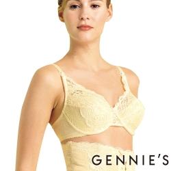 Gennies奇妮-010系列-彈性透氣蕾絲哺乳內衣(米黃T113)