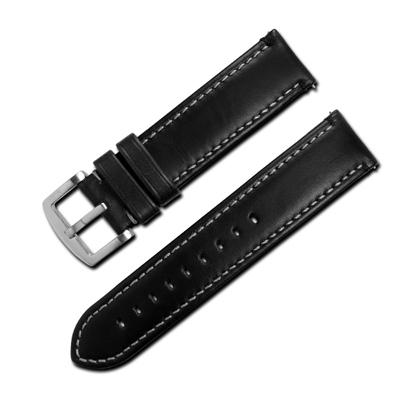 LICORNE 力抗 各種品牌通用復刻真皮錶帶-黑色/22mm