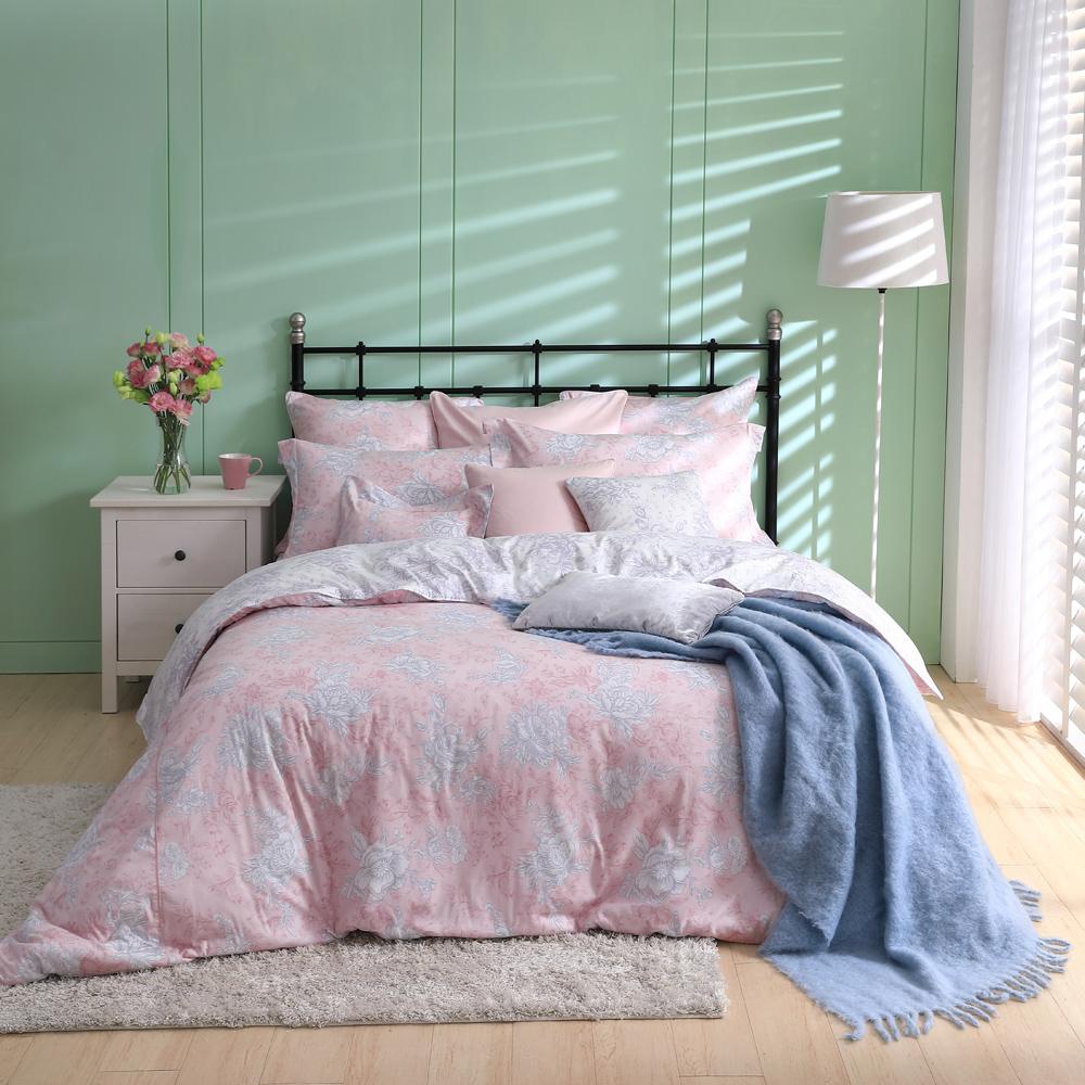 BBL浪漫花舞100%棉.印花加大兩用被床包組