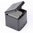 TELESIN 收納式 三充電池充電盒 for GoPro 5 (未含充電線)