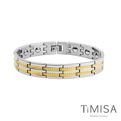 TiMISA《豐收之歌-寬版》純鈦鍺手鍊(共二色)