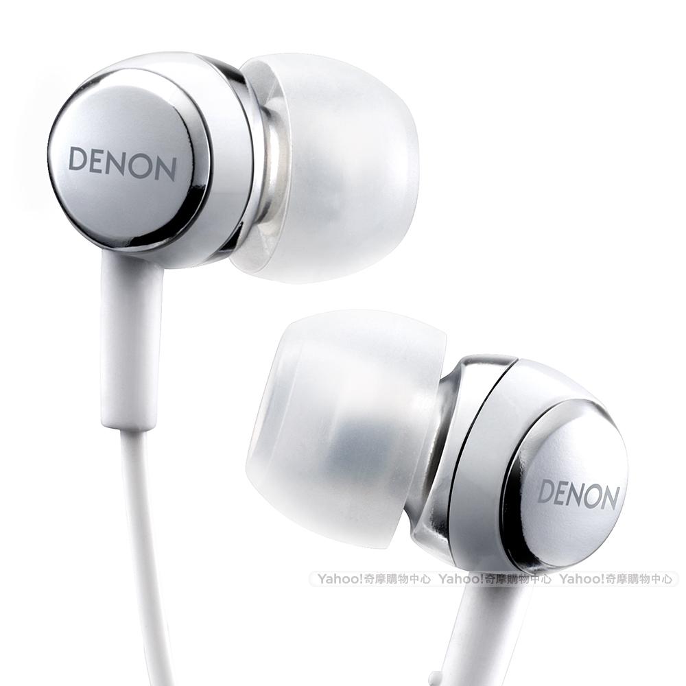 DENON AH-C260 In-Ear Headphone 耳道耳機 冰晶白