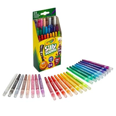 美國 Crayola繪兒樂 白日夢趣味迷你旋轉蠟筆24色(5Y+)